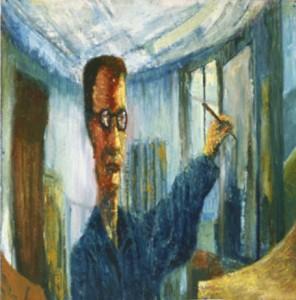 Ole Hansen - langtstrakt selvportræt