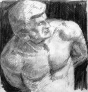 Glyptoteket - tegning - 'slave'